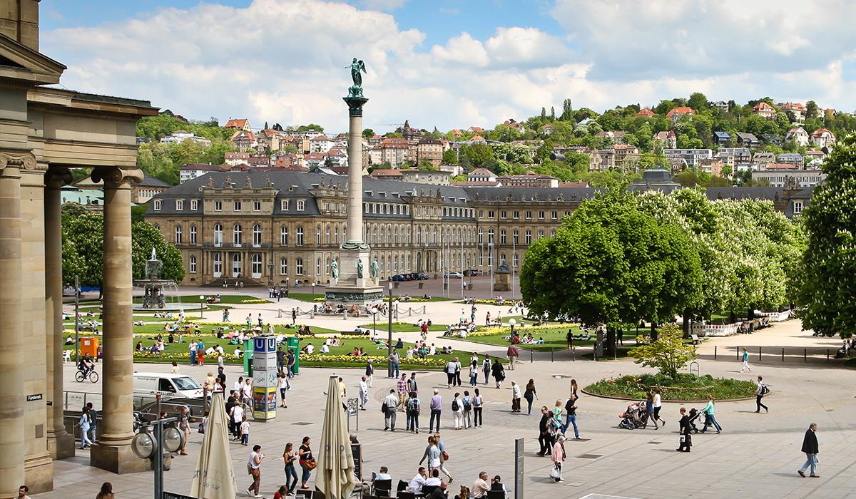 Bild des Schlossplatz in Stuttgart