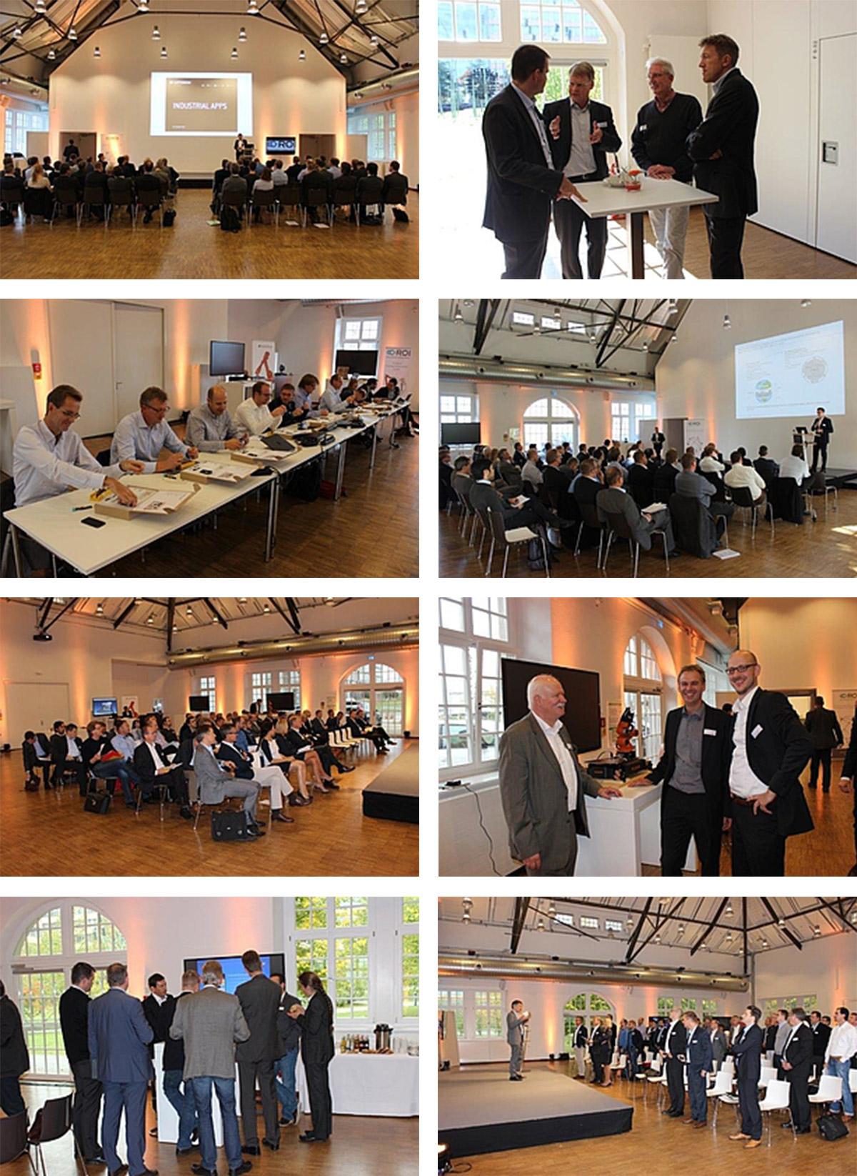 [Translate to English:] Bilder des Workshops ROI Industrie 4.0 Konkret