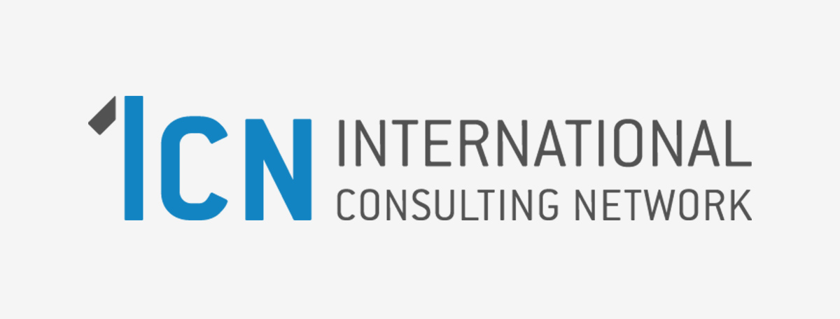 [Translate to English:] ICN Logo auf grauem Hintergrund